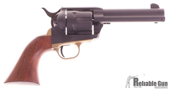 Picture of Used Pietta 1873 94 millenium, Single Action Revolver, 357 Mag, 4-5/8'' Barrel, Matte Black Finish, Wood Grips, Brass Trigger Guard, Excellent Condition