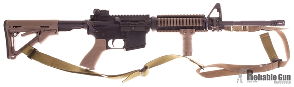 """Picture of Used Stag Arms Stag-15 Semi-Auto 5.56mm, 16"""" Barrel, With Quad Rail & FDE Furnature, One Mag, Good Condition"""