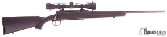 Picture of Used Savage Axis, Bolt Action Rifle, 243 Win, Synthetic Stock, 3-9x40 Scope, Extended Bolt Handle, 1 Magazine, Good Condition