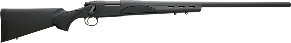 """Picture of Remington 700 SPS Varmint Bolt Action Rifle - 223Rem, 26"""", Matte Blued, 3rds, SPS Varmint Synthetic Stock, W/ Factory Mounted & Bore Sighted 4-12x scope"""