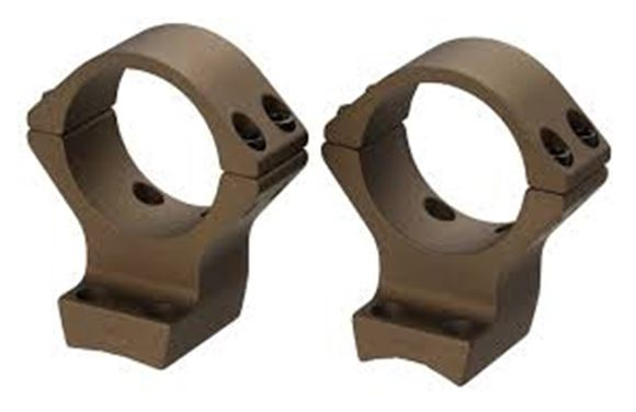 Picture of Browning Scope Rings - 30mm, Intermediate, Burnt Bronze Cerakote, Fits Browning X Bolt