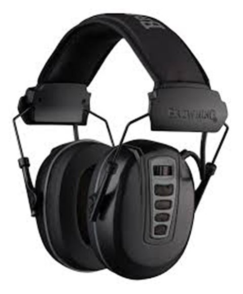 Picture of Browning Hearing Protection - Cadence Electronic Hearing Protector, 24dB NRR, Black