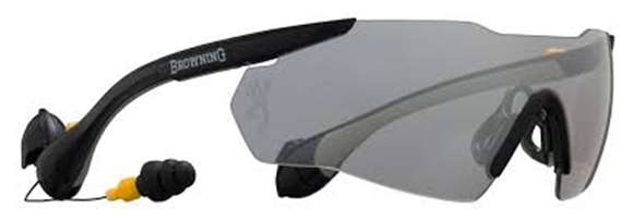 Picture of Browning Shooting Accessories, Eye & Ear Protection - Sound Shield, ANSI Z87.1, NRR of 25 dB, Clear Lense, Men's Large