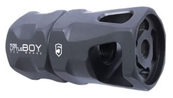 Picture of Phase 5 Muzzle Device - Little Boy Hex Brake, 5.56, 1/2x28 TPI, Mil-Spec Black Parkerized Finish