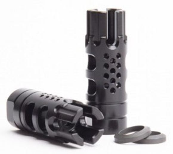 Picture of SLR Rifleworks Muzzle Device - Synergy BCF 5.56, Melonite QPQ Finish, 1/2x28, 416 Stainless Steel