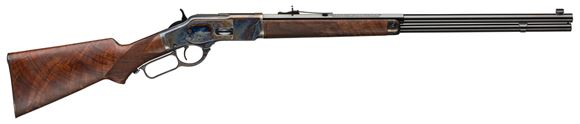 """Picture of Winchester Model 1873 Deluxe Sporting - 44-40 Win, 24"""", Half Octagon, Polished Blued, 14rds, Grade V/VI Oil Black Walnut"""