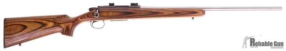 Picture of Used Remington 788, Bolt Action Rifle, Custom 24'' Stainless Target Barrel, 223 Wylde, Brown Laminate Stock, 1 Magazine, Good Condition