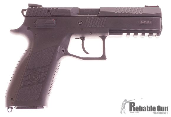 Picture of Used CZ P-09, 2 mags, Fiber front sight, Origonal box and front sight, Excellent condition.