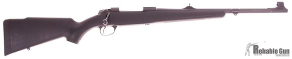 "Picture of Used Sako 85 Black Bear Bolt Action Rifle - 30-06 Sprg, 20"", Matte Blue, Cold Hammer Forged Fluted Medium Contour Barrel w/Band Swivel, Black Synthetic Stock w/Rubber Grip Surfaces & Soft Touch Coating, 5rds, Adjustable Iron Sights, 2-4lb Adj Trigger"