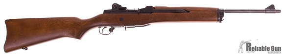 Picture of Used Ruger Mini 14 Semi Auto Rifle, 223 Rem, Wood Stock,  Blued Barrel, Early Series (181), 1x5rds Magazine, Very Good Condition