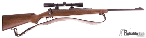 """Picture of Used Winchester Ranger Bolt Action Rifle, 30-06 SPRG, Bushnell Fixed 4 Power Scope, 22"""" Blued Barrel, Wood Stock, Fair Condition"""