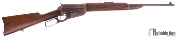 Picture of Used Winchester Model 1895 Saddle Ring Carbine Lever Action, 303 Brit, Wood Stock, Folding Military Style Sight, SN: 422853, Fair Condition