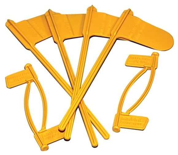 Picture of MTM Case-Gard Chamber Flags - 4 Rifle & 4 Pistol, Yellow