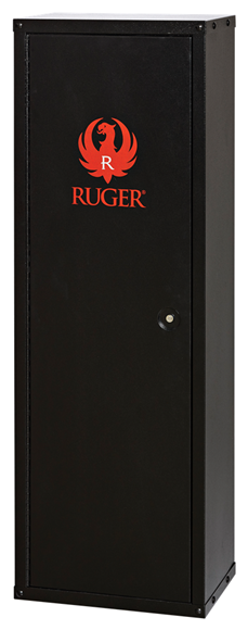 """Picture of SnapSafe Ruger Modular Gun Cabinet, 8 Gun, 3 Point Lock, Powder Coat, Dimensions: 52.8"""" H x 17.8""""W x 12.0"""" D, 55 lbs"""