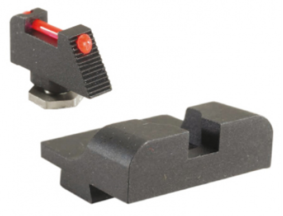 Picture of Warren Tactical Iron Sights - Sevigny Competition, Plain Rear w/ Fiber Optic Front, Glocks