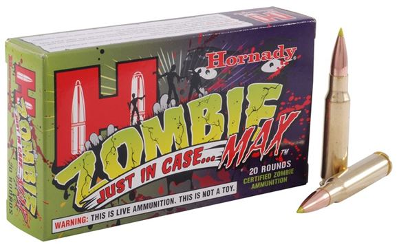 Picture of Hornady Zombie Max Rifle Ammo - 308 Win, 168Gr, Z-Max, 20rds Box