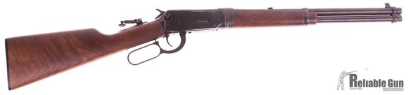 Picture of Used Winchester 94AE Lever Action Takedown Carbine, 357 Magnum, 16'' Barrel, Walnut Stock, Lyman Tang Peep Sight, Aftermarket Takedown System, Excellent Condition