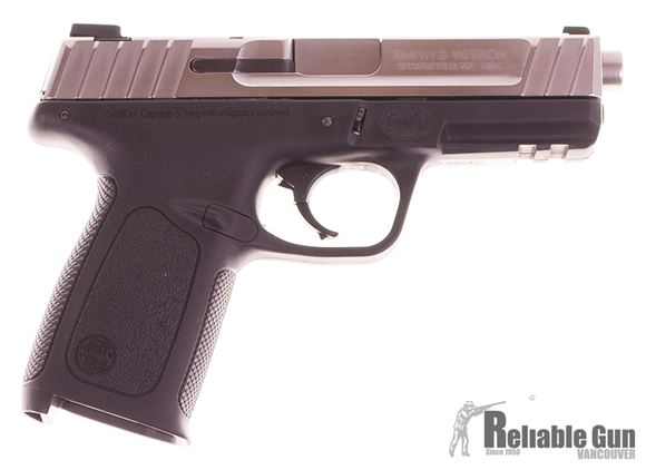 Picture of Used Smith & Wesson SD9VE, Semi Auto Pistol, 9mm, Polished Stainless Slide, Polymer Frame, 2 Magazines, Good Condition