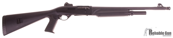 """Picture of Used Benelli M2 Tactical Semi-Auto Shotgun - 12Ga, 3"""", 18-1/2"""", Blued, Black Synthetich, Pistol Grip Stock, 5rds, Ghost Ring Sights, Good Condition"""