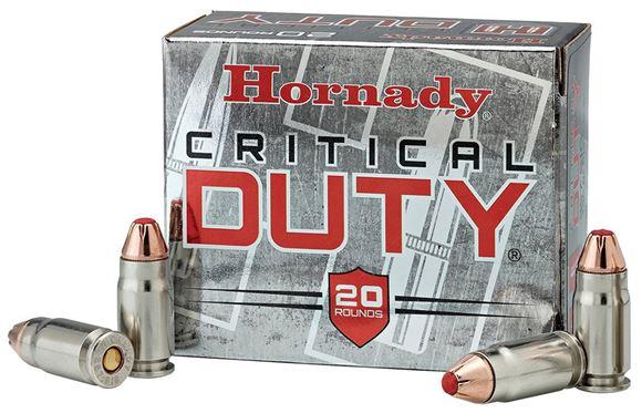 Picture of Hornady FlexLock Duty Handgun Ammo - 9mm Luger +P, 135Gr, 25rds Box