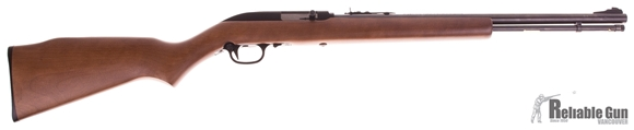 "Picture of Used Marlin Model 60 Rimfire Semi-Auto Rifle - 22 LR, 19"", Blued, Hardwood Stock, Tube Feed 14rds, Ramp Front & Adjustable Rear Open Sights, Upgraded Metal Trigger Guard, Excellent Condition"
