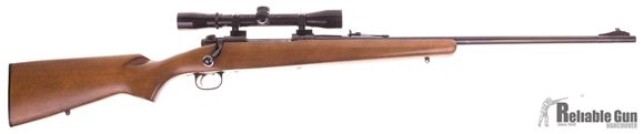 Picture of Used Winchester Model 70 Ranger Bolt Action Rifle, 7mm Rem Mag, 24'' Barrel w/Sights, Wood Stock, Bushnell Sportview 4x32 Scope, Very Good Condition