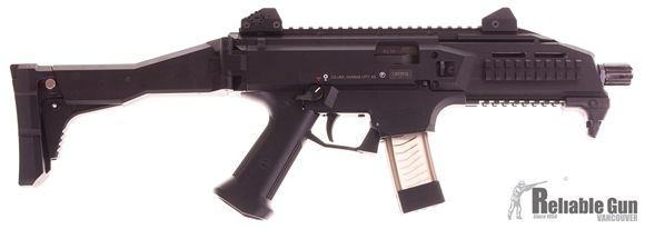 """Picture of Used CZ Scorpion Evo Semi Auto Carbine - 9mm Luger, 7"""", Fiber-Reinforced Polymer Frame, Adjustable Folding Stock, 2 Magazines, Black, Very Good Condition"""