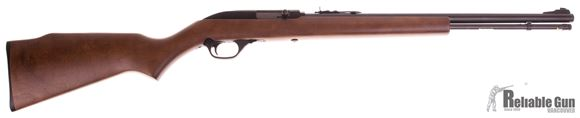 """Picture of Used Marlin Model 60 Rimfire Semi-Auto Rifle - 22 LR, 19"""", Blued, Monte Carlo Walnut-Finished Laminated Hardwood Stock w/Full Pistol Grip & Tough Mar-Shield Finish, 14rds, Ramp Front & Adjustable Rear Open Sights Good Condition"""