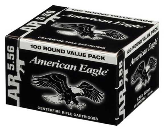 Picture of Federal Rifle Ammo - 5.56x45mm NATO, 55Gr, Copper Jacket Boat-Tail (M193 Ball), 500rds Case