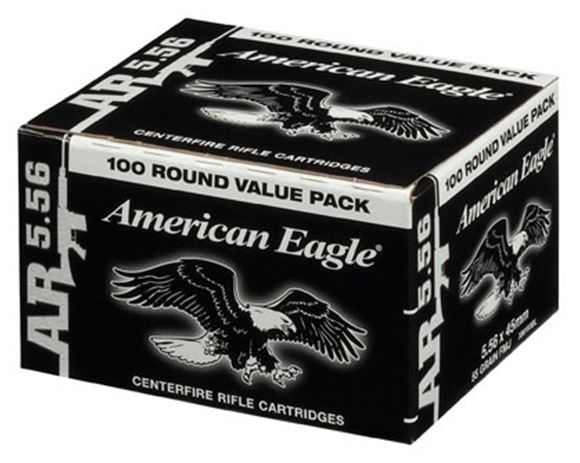 Picture of Federal Rifle Ammo - 5.56x45mm NATO, 55Gr, Metal Case Boat-Tail (M193 Ball), 100rds Value Pack