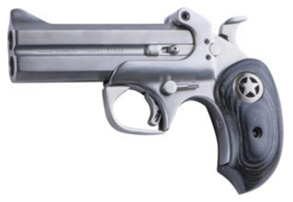 "Picture of Bond Arms Ranger 2 Break Action Pistol - 38 Spl/357 Mag, 4-1/4"" Barrel, Satin Polish Stainless Steel, Black Hardwood Grips, 2rds"