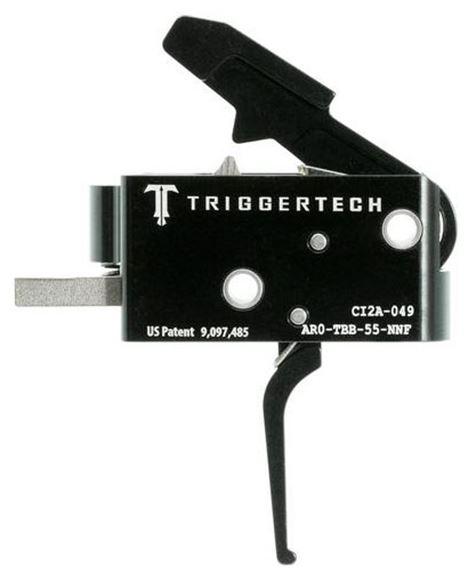 Picture of Trigger Tech, AR15 Trigger - Frictionless Trigger, Flat, Short Two Stage, 2.5-5lbs, Small Pin, PVD Black