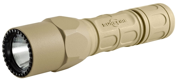 Picture of SureFire G2X Pro TAN LED Flashlight - 600Lumens, 6 Volts, Dual-output tailcap click switch, 2x123A  (included)