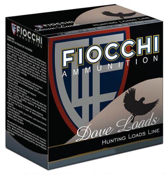 "Picture of Fiocchi Sporting Shotshells, Game & Target Shotgun Ammo - 12Ga, 2-3/4"", #7.5 Shot, 1 oz, 3 1/4 Dram, 1290fps, 25rds Box"