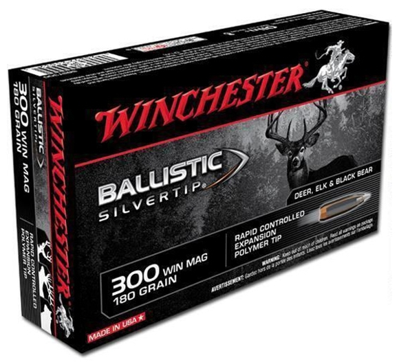 Picture of Winchester Centerfire Rifle Ammo - 300 Win Mag, 180Gr, Ballistic Silvertip, 20rds Box