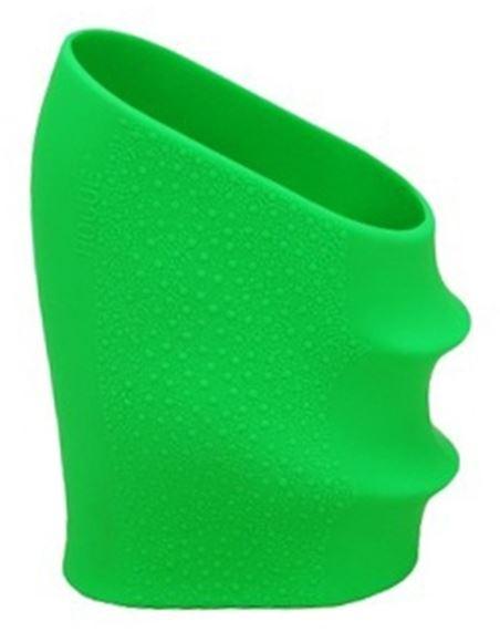 Picture of Hogue Handgun Grips, HandAll Universal Grip Sleeves, HandAll Universal Grips For Glock & HK USP & More - Handall Full Size Grip Sleeve Zombie Green