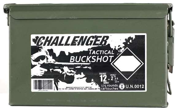 "Picture of Challenger Tactical Buckshot - 12ga, 2-3/4"", 4 Buck, 1-1/4oz, 175rds Ammo Can"