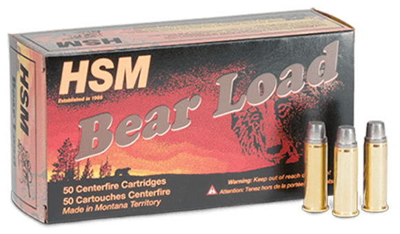 """Picture of HSM Bear Load Rifle Ammo - 357 Mag, 180Gr, RNFP Gas Check """"Bear Load"""", 50rds Box"""
