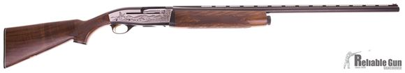 Picture of Used Ithaca XL900, Semi Auto 12 Gauge 2-3/4'' Shotgun, 30'' Full Choke, Deluxe Wood Stock, Silver Game Scene On Receiver, Gold Trigger, Excellent Condition