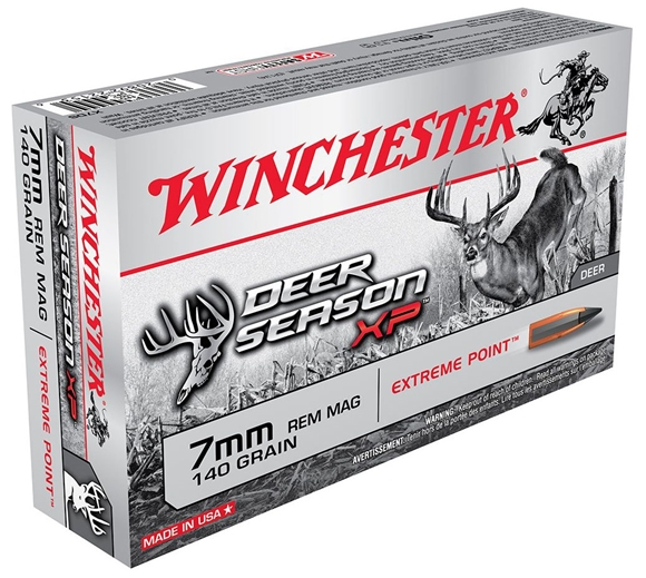 Picture of Winchester Deer Season XP Rifle Ammo - 7mm rem Mag, 140Gr, Extreme Point, 20rds Box
