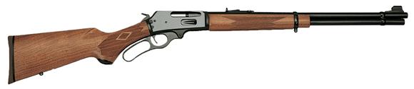 "Picture of Marlin Model 336W Lever Action Rifle - 30-30 Win, 20"", Blued, Walnut Finished Hardwood Pistol Grip Stock, 6rds, Brass Bead w/Wide-Scan Hood Front & Adjustable Semi-Buckhorn Folding Rear Sights"