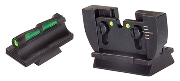 Picture of HIVIZ Shooting Systems Rifle Sights, Ruger - Fiber Optic LiteWave Front & Rear Ruger 10/22 Sights, Green Red & White, For Ruger 10/22 Standard Barrel Rifles