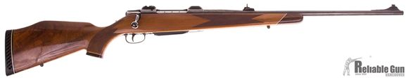 Picture of Used Sauer 80 Bolt Action Rifle, 300 Win Mag, Deluxe Walnut Stock, 24'' High Polish Blued Barrel w/Sights, EAW Scope Bases, Excellent Condition
