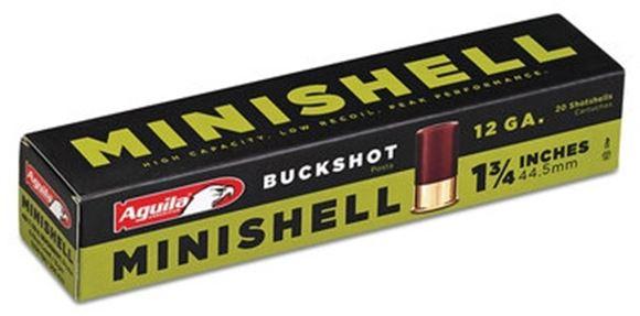 Picture of Aguila Shotgun Ammo, Mini Shells - 12ga, 4B/1B Buckshot, 1-3/4, 5/8 Load, 1200FPS, 20rds Box