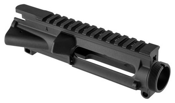 Picture of Brownells Rifle Parts, Receivers -  AR-15 A3 Stripped Upper Receiver, With M4 Feed Ramps, Black Anodized
