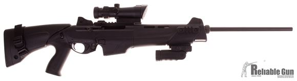"""Picture of Used Benelli MR1 Semi-Auto Rifle - 223 Rem, 20"""", Black Anodized, Technopolymer Collapsible Stock, 1 Magazine, Ghost Ring Sights, Bushnell Trophy Red/Green Dot Scope (Acog Style), Fab Folding Vertical Grip, Good Condition"""