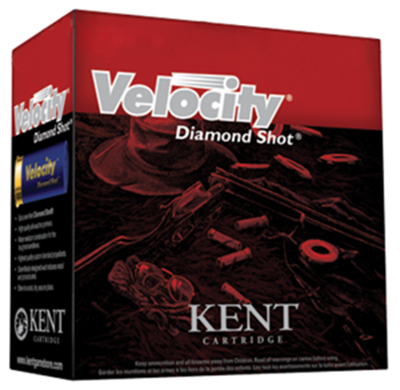"Picture of Kent Velocity Diamond Shot Lead Sporting/Target Shotgun Ammo - 12Ga, 70mm (2-3/4""), 24g, #8.5, 250rds Case, 1250fps (International/Olympic Skeet)"
