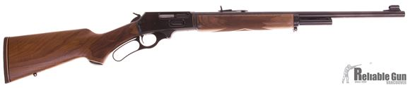 Picture of Used Marlin 1895 45-70 Lever Action Rifle, 22'' Barrel, Walnut Stock, JM Stamped, A few Rust Marks on Left Side Of Receiver, Overall Good Condition