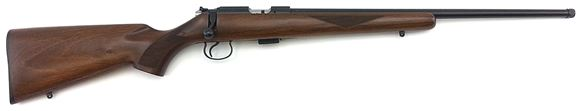 """Picture of CZ 455 American Rimfire Bolt Action Rifle - 22 LR, 20-1/2"""", Hammer Forged, Polycoat, Walnut Stock, 5rds, Adjustable Trigger"""
