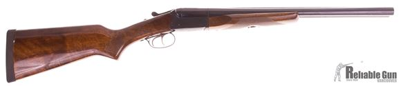 "Picture of Used Stoeger Industries IGA Coach Gun Deluxe Side-by-Side Shotgun- 12Ga, 3"", 20"", Blued, AA-Grade Gloss Walnut Stock, Brass Bead Front Sight, Double Trigger, (IC,M)"